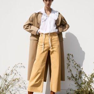 Zara Yellow Marine Straight Leg Pant